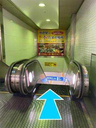 ⑤新幹線口を通り過ぎてすぐにエレベーターがありますので下ります。